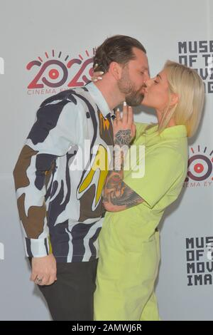 JANUARY 06 - ASTORIA, NY: Jordan Domont and Rose Marchen attend the Cinema Eye 2020 Awards Ceremony at the Museum of the Moving Image on January 6, 20 - Stock Photo