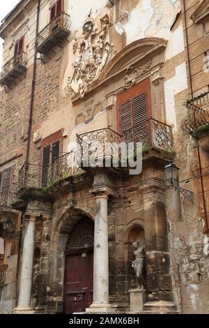 Palazzo Alliata di Villafranca, Piazza Bologni, Palermo architecture - Stock Photo