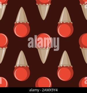 Ice cream choco cone seamless pattern background - Stock Photo