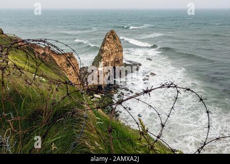 Pointe du Hoc, Calvados, Normandy, France - Stock Photo