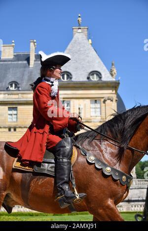 MAINCY, FRANCE - June 11, 2017: 13th annual 'Grand Siècle' Day at the Château de Vaux-le-Vicomte (southeast of Paris). - Stock Photo