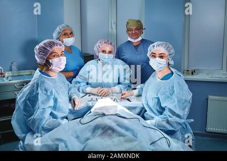 Collage of group of doctor, nurse, surgeon people over isolated background smiling looking to the camera. - Stock Photo