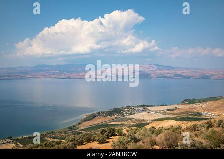 Sea of Galilee, Israel's largest freshwater lake