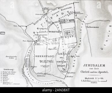 Map Of Jerusalem At The Time Of Jesus Christ Digital Improved