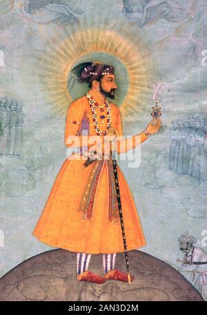 SHAH JAHAN (1592-1666) fifth Mughal emperor who created the Taj Mahal - Stock Photo