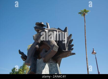 Jack Knife statue in Scottsdale Arizona - Stock Photo