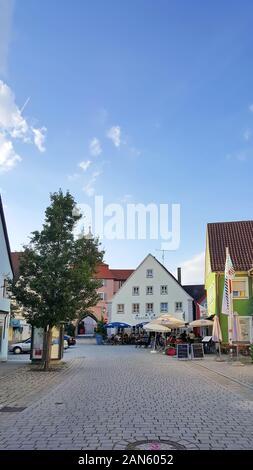 Wassertrüdingen Bavaria / Germany - 04 08 2019: Wassertrüdingen is a city Germany, with many historical attractions
