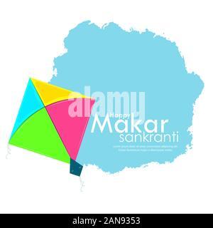 illustration of Happy Makar Sankranti festival - Stock Photo