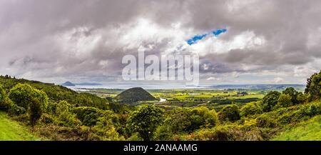 Panoramic view over Lake Taupo, Waikato, New Zealand
