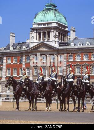 Changing of the Guard Ceremony, Horse Guards Parade, Whitehall, City of Westminster, Greater London, England, United Kingdom