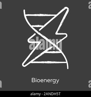 Bioenergy chalk icon. Biofuel. Organic matter for producing renewable energy. Body signaling using electrical impulses. Converting biomass into electr - Stock Photo