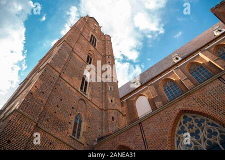 St. Elizabeth's Church at old town in Wroclaw, Poland - Stock Photo