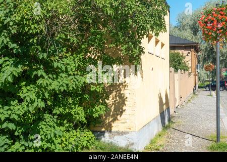 Streets of old Hämeenlinna town - Stock Photo