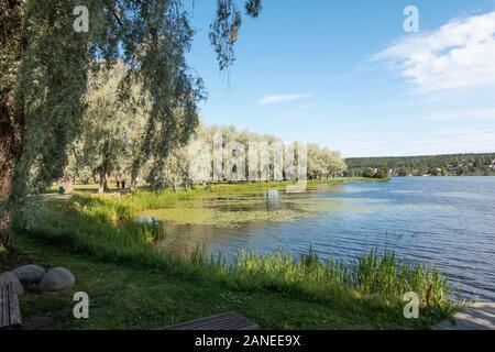 Vanaja Lake in Hämeenlinna Finland - Stock Photo