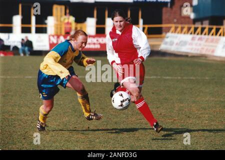 Kelly Smith of Wembley during Doncaster Belles vs Wembley Ladies, FA Women's Premier League Cup Final Football at Underhill, Barnet FC on 10th March 1 - Stock Photo