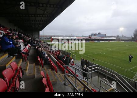 General view of the ground during Dagenham & Redbridge vs Ebbsfleet United, Vanarama National League Football at the Chigwell Construction Stadium on - Stock Photo