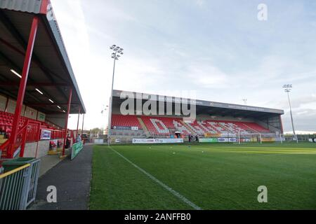 General view of the ground during Dagenham & Redbridge vs Maidenhead United, Vanarama National League Football at the Chigwell Construction Stadium on - Stock Photo