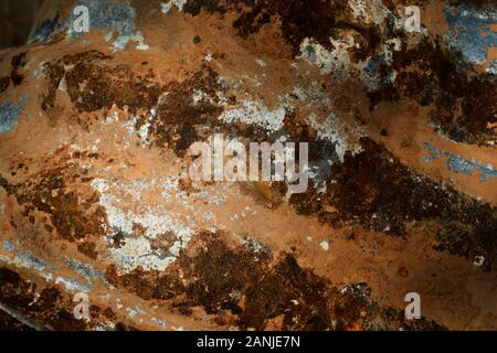 Drainage pipe extracted from a culvert draining an RV park in southern Alabama. - Stock Photo
