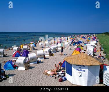 Timmendorf beach, Poel Island, Baltic Sea Coast, Mecklenburg-Vorpommern, Germany - Stock Photo