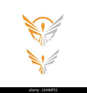 fire bird phoenix logo design vector illustrations graphic - Stock Photo