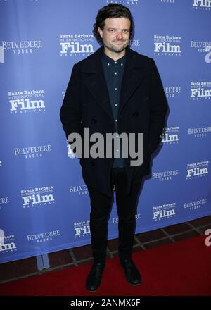 Santa Barbara, United States. 17th Jan, 2020. SANTA BARBARA, LOS ANGELES, CALIFORNIA, USA - JANUARY 17: Actor Matt Jones arrives at the 35th Annual Santa Barbara International Film Festival - The Outstanding Performers Of The Year Award held at The Arlington Theatre (Metropolitan Theatres) on January 17, 2020 in Santa Barbara, Los Angeles, California, United States. (Photo by Xavier Collin/Image Press Agency) Credit: Image Press Agency/Alamy Live News - Stock Photo