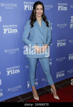 Santa Barbara, United States. 17th Jan, 2020. SANTA BARBARA, LOS ANGELES, CALIFORNIA, USA - JANUARY 17: Actress Emma Fuhrmann arrives at the 35th Annual Santa Barbara International Film Festival - The Outstanding Performers Of The Year Award held at The Arlington Theatre (Metropolitan Theatres) on January 17, 2020 in Santa Barbara, Los Angeles, California, United States. (Photo by Xavier Collin/Image Press Agency) Credit: Image Press Agency/Alamy Live News - Stock Photo