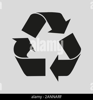black arrows on a black background in a circle - vector illustration - Stock Photo
