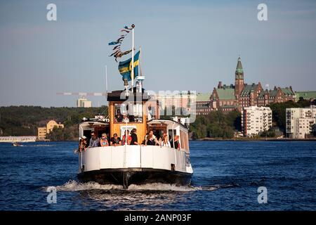 The ferry boat, Stockholm, Sweden - Stock Photo