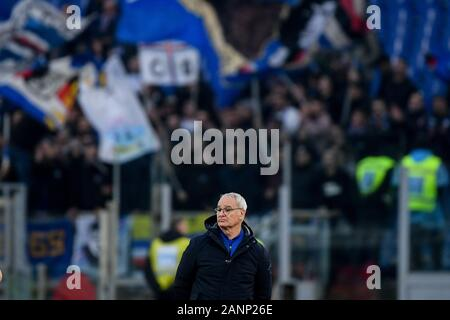 Rome, Italy. 18th Jan 2020. Claudio Ranieri manager of Sampdoria during the Serie A match between Lazio and Sampdoria at Stadio Olimpico, Rome, Italy on 18 January 2020. Credit: Giuseppe Maffia/Alamy Live News - Stock Photo