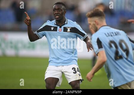 Rome, Italy. 18th Jan, 2020. Rome, Italy - 18 January, 2020: Bobby Adekanye (LAZIO) in action during the Italian Serie A soccer match SS Lazio vs Sampdoria 5-1, at Olympic Stadium in Rome on 18/01/2020 Credit: Independent Photo Agency/Alamy Live News - Stock Photo