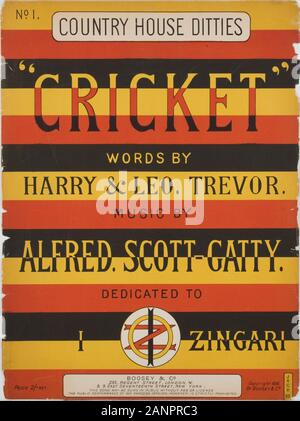 Country House Ditties. Cricket songs front cover - Stock Photo