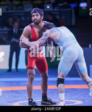 Rome, Italy. 18th Jan, 2020. Rome, Italy, 18 Jan 2020, bajrang bajranf (india) category 65 kg during Ranking Series International Tournament - Wrestling - Credit: LM/Luigi Mariani Credit: Luigi Mariani/LPS/ZUMA Wire/Alamy Live News - Stock Photo