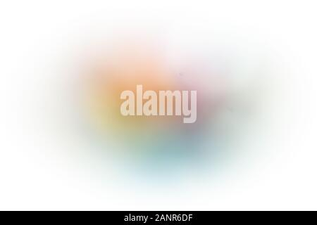 Blurred image of Glass full of flat polished stones - Stock Photo
