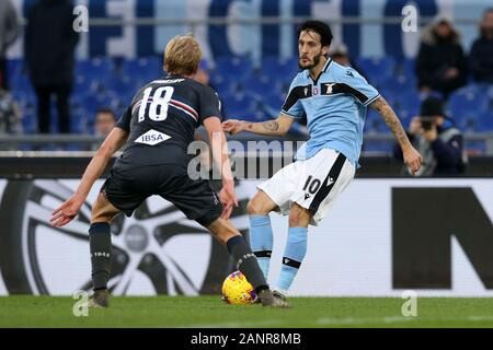 Rome, Italy. 18th Jan, 2020. Luis Alberto (Lazio) in action during the Serie A TIM match between SS Lazio and UC Sampdoria at Stadio Olimpico on January 18, 2020 in Rome, Italy. (Photo by Giuseppe Fama/Pacific Press) Credit: Pacific Press Agency/Alamy Live News - Stock Photo