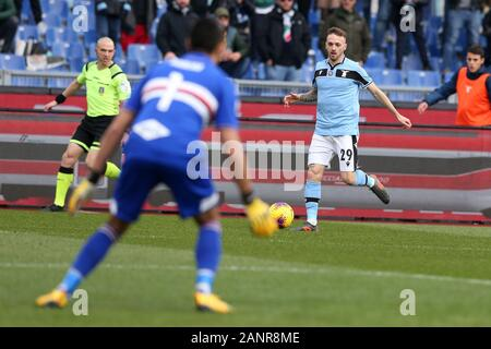 Rome, Italy. 18th Jan, 2020. Manuel Lazzari (Lazio) in action during the Serie A TIM match between SS Lazio and UC Sampdoria at Stadio Olimpico on January 18, 2020 in Rome, Italy. (Photo by Giuseppe Fama/Pacific Press) Credit: Pacific Press Agency/Alamy Live News - Stock Photo
