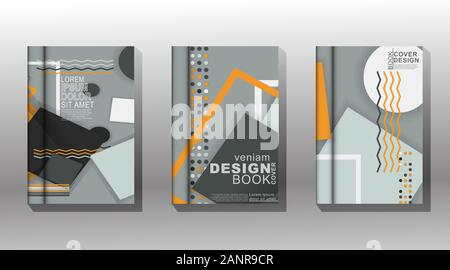 Minimal cover design. memphis and overlap. vector illustration. New texture for your design. - Stock Photo