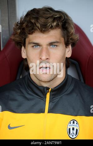 Turin Italy, 29 September 2013, 'Stadio Olimpico Grande Torino' Stadium, Campionato di Calcio Seria A 2013/2014,  FC Torino - FC Juventus: Fernando Liorente before the match - Stock Photo