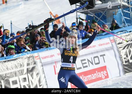 Sestriere, Italy, 19 Jan 2020, bassino marta (ita) 3th classified during SKY World Cup -  Parallel Giant Slalom Women - Ski - Credit: LPS/Danilo Vigo/Alamy Live News - Stock Photo