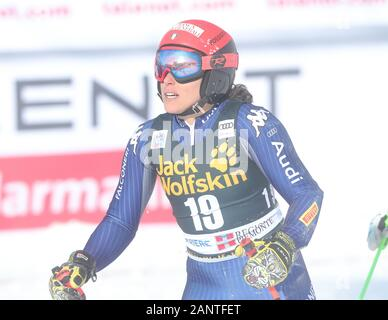 Sestriere, Italy. 19th Jan, 2020. Sestriere, Italy, 19 Jan 2020, during SKI World Cup - Parallel Giant Slalom Women - Ski - Credit: LM/Sergio Bisi Credit: Sergio Bisi/LPS/ZUMA Wire/Alamy Live News - Stock Photo