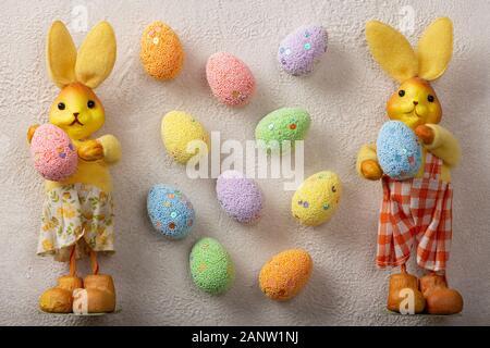 Easter, egg hunts, happy easter sunday, easter monday, easter sunday, egg decorating - Stock Photo
