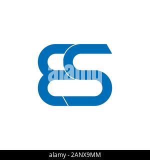 letter es linked curves logo vector - Stock Photo