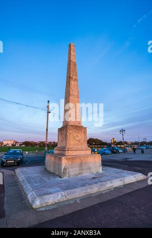 The Crimean War Memorial on the promenade at Clarence Esplanade, Southsea, Portsmouth, Hampshire, south coast England - Stock Photo