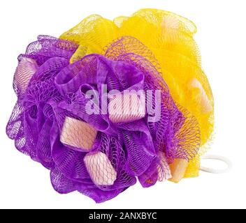 athroom accessories, shower utensils, care and hygiene items, ready to go to the shower - Stock Photo