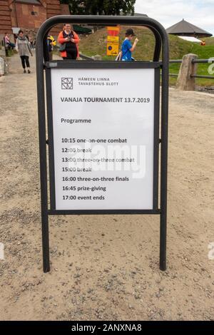 Vanaja Tournament Stand in Hämeenlinna Finland - Stock Photo