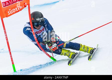 Alta Badia, Italy 22 December 2019.  BALLERIN Andrea (Ita) competing in the Audi Fis Alpine Skiing World Cup Men's Giant Slalom on the Gran Risa Cours - Stock Photo