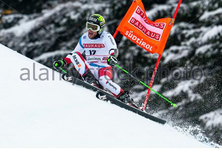 Alta Badia, Italy 22 December 2019.  MURISIER Justin (Sui) competing in the Audi Fis Alpine Skiing World Cup Men's Giant Slalom on the Gran Risa Cours - Stock Photo