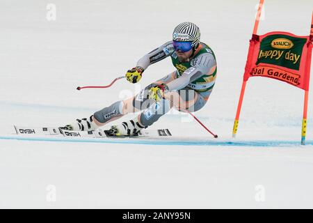 Val Gardena, Italy 20 December 2019. Jansrud Kjetil (Nor) competing in the Audi Fis Alpine Skiing World Cup Men's Super-G Race  on the Saslong Course - Stock Photo