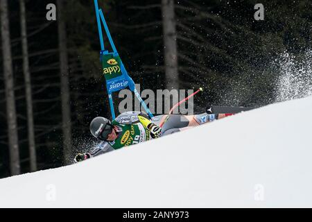 Val Gardena, Italy 20 December 2019. SEJERSTED Adrian Smiseth (Nor) competing in the Audi Fis Alpine Skiing World Cup Men's Super-G Race  on the Saslo - Stock Photo