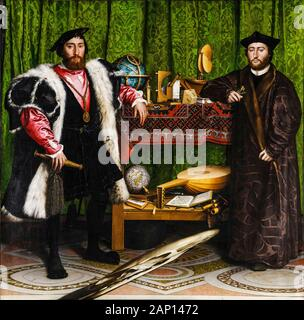 Hans Holbein the Younger, portrait painting, The Ambassadors, 1533 - Stock Photo