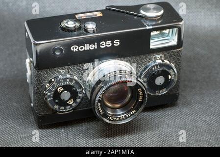 Rollei 35S Miniature 35mm Film Camera, - Stock Photo